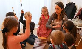 Musikalische Früherziehung an der Musikschule Philarmonika, Berlin-Charlottenburg/Wilmersdorf