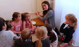 Instrumentenkarussell an der Musikschule Philarmonika, Berlin-Charlottenburg/Wilmersdorf